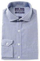 Hart Schaffner Marx Non-Iron Fitted Classic-Fit Cutaway-Collar Gingham Dress Shirt