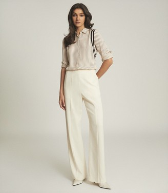 Reiss HARRIET PIN STRIPE BLOUSE Ivory