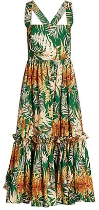 Cara Cara Julia Tropical Floral Midi Dress