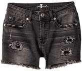 7 For All Mankind Kids Roll Cuff Shorts in Authentic Black Girl's Shorts