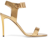 Jimmy Choo Truce Metallic Leather Sandals - Gold