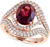 Effy Rhodolite Garnet (5-1/3 ct. t.w.) and Diamond (9/10 ct. t.w.) Ring in 14k Rose Gold