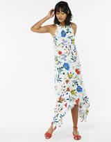 Flora Print Halter Neck Dress