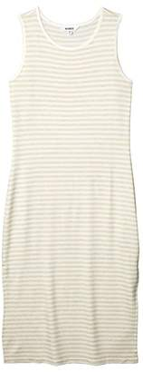 BB Dakota French Toast Striped French Terry Dress (Heather Oatmeal) Women's Clothing