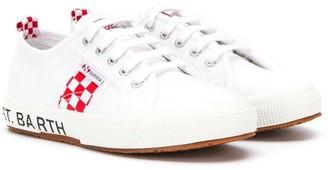 MC2 Saint Barth Kids logo print low top sneakers