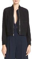 Diane von Furstenberg Women's Kennadie Lace Bomber Jacket