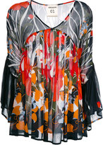 Semi-Couture Semicouture floral pleated top