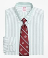 Brooks Brothers Original Polo Button-Down Oxford Madison Classic-Fit Dress Shirt, Ground Stripe