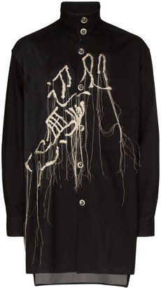 Yohji Yamamoto Embroidered Shirt Jacket