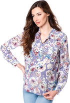 A Pea in the Pod Button Front Maternity Blouse