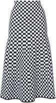 Alexander Wang checked A-line skirt - women - Nylon/Spandex/Elastane/Viscose - XS