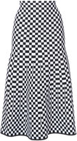Alexander Wang - checked A-line skirt