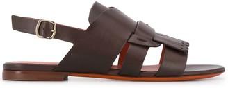 Santoni Tassel Detail Sandals