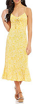 MICHAEL Michael Kors Tansy Floral Print Matte Jersey Lace-Up Slip Dress