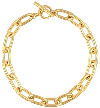 Tilly Sveaas Large Oval Linked 18kt gold-plated necklace