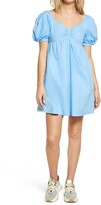 Thumbnail for your product : ENGLISH FACTORY Puff Sleeve Babydoll Dress