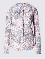 Marks and Spencer Cotton Blend Butterfly Print Blouse