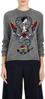 Valentino Women's Tattoo-Intarsia Virgin Wool-Cashmere Sweater