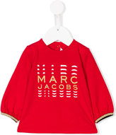 Little Marc Jacobs glittery logo blouse