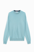 John Smedley Crew Neck Tipped Pullover