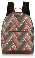Gucci Gg Supreme Chevron-print Backpack