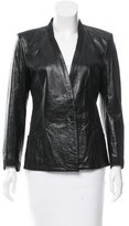 Helmut Lang Leather Collarless Blazer w/ Tags