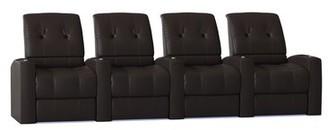 Latitude Run Home Theater Row Seating (Row of 4) Latitude Run Reclining Type: Manual, Body Fabric: Luxe Cognac