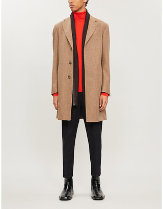 Canali Single-breasted wool overcoat