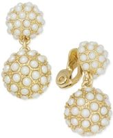 Charter Club Gold-Tone Imitation Pearl Ball Clip-On Drop Earrings, Created for Macy's