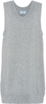 Prada Sleeveless Cashmere Knit Mini-Dress