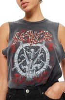 Topshop Women's By And Finally Slayer Stud Slash Tank
