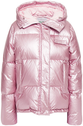 Kenzo Metallic Quilted Shell Hooded Down Jacket