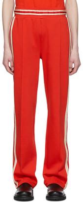 Wales Bonner Red Crochet Stripes Lounge Pants