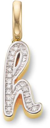 Monica Vinader Alphabet H Diamond Pendant Charm