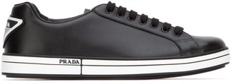 Prada Logo Plaque Sneakers