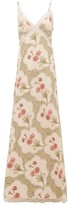 Brock Collection Onorino Floral-print Cotton-blend Gown - Womens - Beige Multi