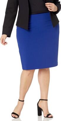 Kasper Women's Plus Size Crepe Slim Skirt