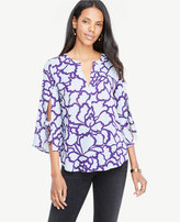 Ann Taylor Leafed Tie Sleeve Popover