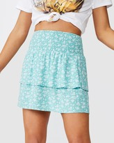 Supre Poppy Shirred Waist Tiered Skirt