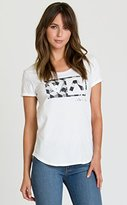 RVCA Junior's Shade Box Loose Fit Scoop Neck Graphic Tee