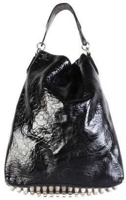 Alexander Wang Black Patent Leather Tote Bag