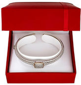 Lord & Taylor Diamond and 14K Yellow Gold Silvertone Bangle Bracelet