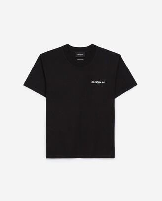 The Kooples Black cotton T-shirt with breast logo
