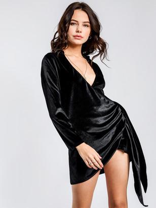 Victoria's Secret The People Rhode Velvet Dress in Black