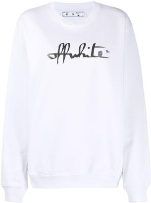 Off-White Logo-Print Long-Sleeve Sweatshirt