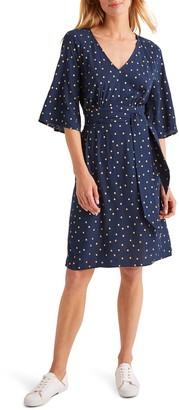 Boden Dominique Polka Dot Belted Dress