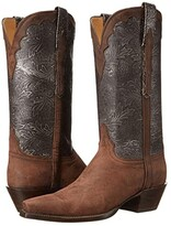Lucchese L4744.54 (Distressed Pewter/Vintage Black) Cowboy Boots