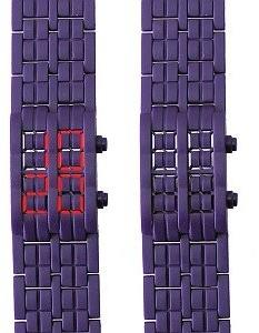 Too Late Too Latetl2924Montre MixteQuartz DigitalCadran Purple Polycarbonate Bracelet Purple