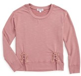 Ten Sixty Sherman Girl's Side Lace-Up Sweatshirt