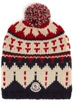 Moncler Wool pompom beanie hat